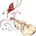 Motylek ulatujący ze skrzypiec